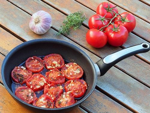 Tomates provençales presque confites