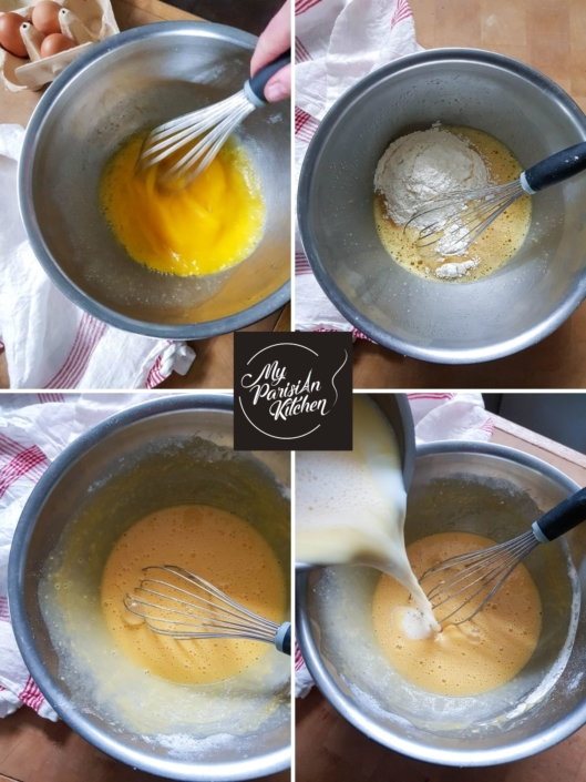 prepare the batter for the clafoutis