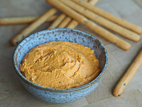 Crème de lentilles corail aux poivrons grillés