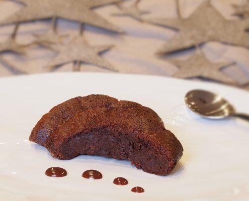 gâteau fondant au chocolat et au caramel au beurre salé