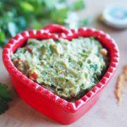 guacamole French styme with cilantro and piment d'espelette