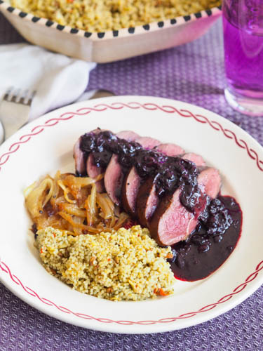 Duck Breast with Blackcurrant Sauce French recipe