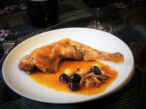 cuisses de poulet au raisin
