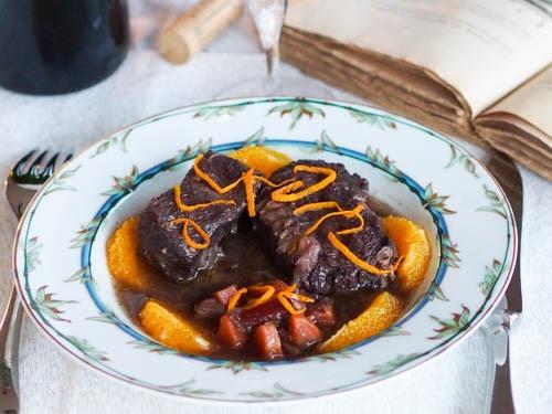 Daube de bœuf provençale à l'orange