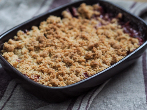 oatmeal crumble dough