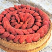 Tarte aux fraises et à la crème d'amande