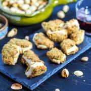 Bouchées de poulet pané à la pistache