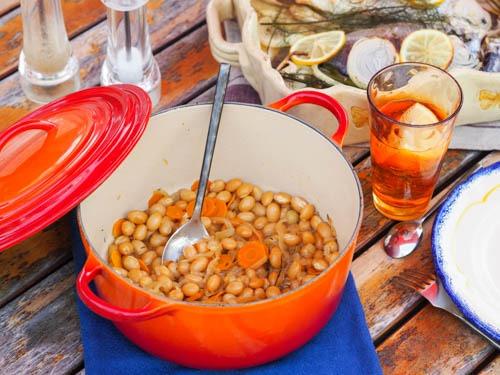 Cocos de Paimpol, cuisson au cidre