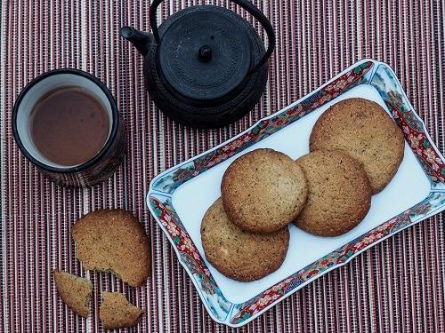 Les cookies au chocolat blanc et au thé vert