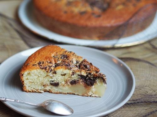 gâteau au yaourt à la poire et au chocolat