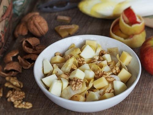 salade d'endives, pomme Comté et noix