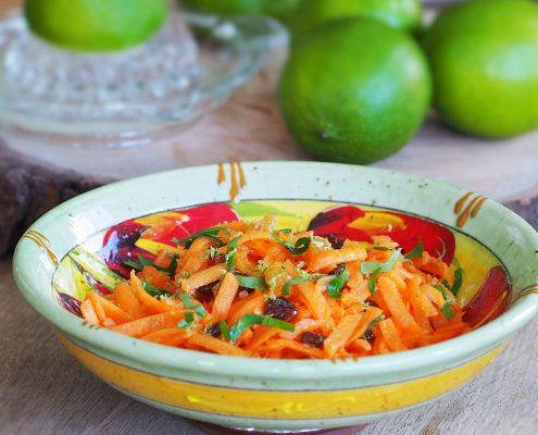 carottes râpées vinaigrette au citron vert, recette du Chef Alain Passard