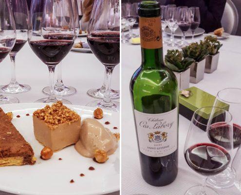 Dégustation Vin Bordeaux Saint-Estèphe Cos Labory au restaurant le carré des feuillants