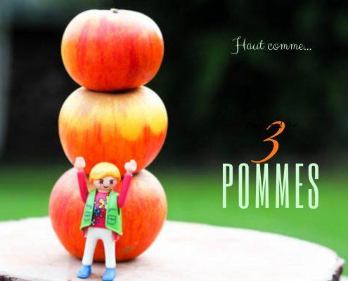 expression française liée à la cuisine pourquoi dit on haut comme trois pommes ?