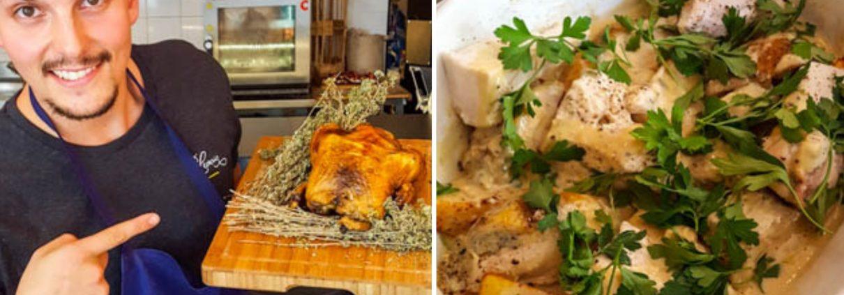 poulet contisé au saint agur