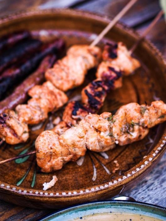 Paprika Marinated Chicken Skewers for BBQ