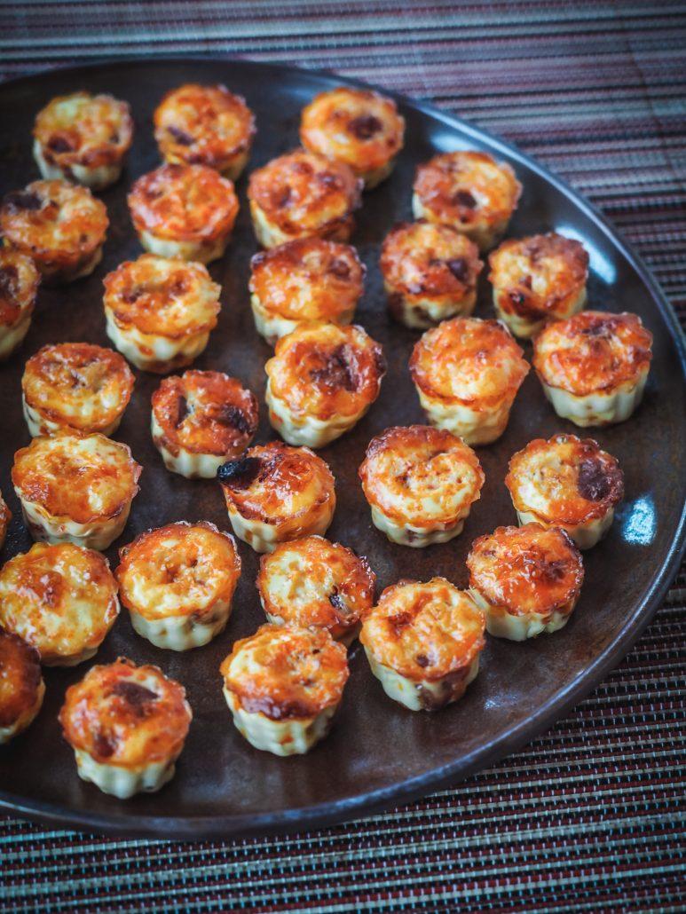 Mini cannelés de flan au chorizo pour l'apéritif