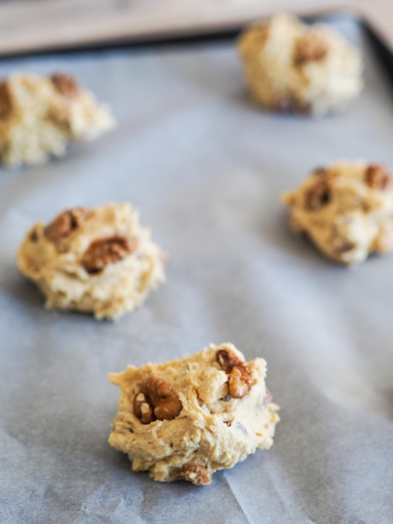 cookies aux noix à cuire au four