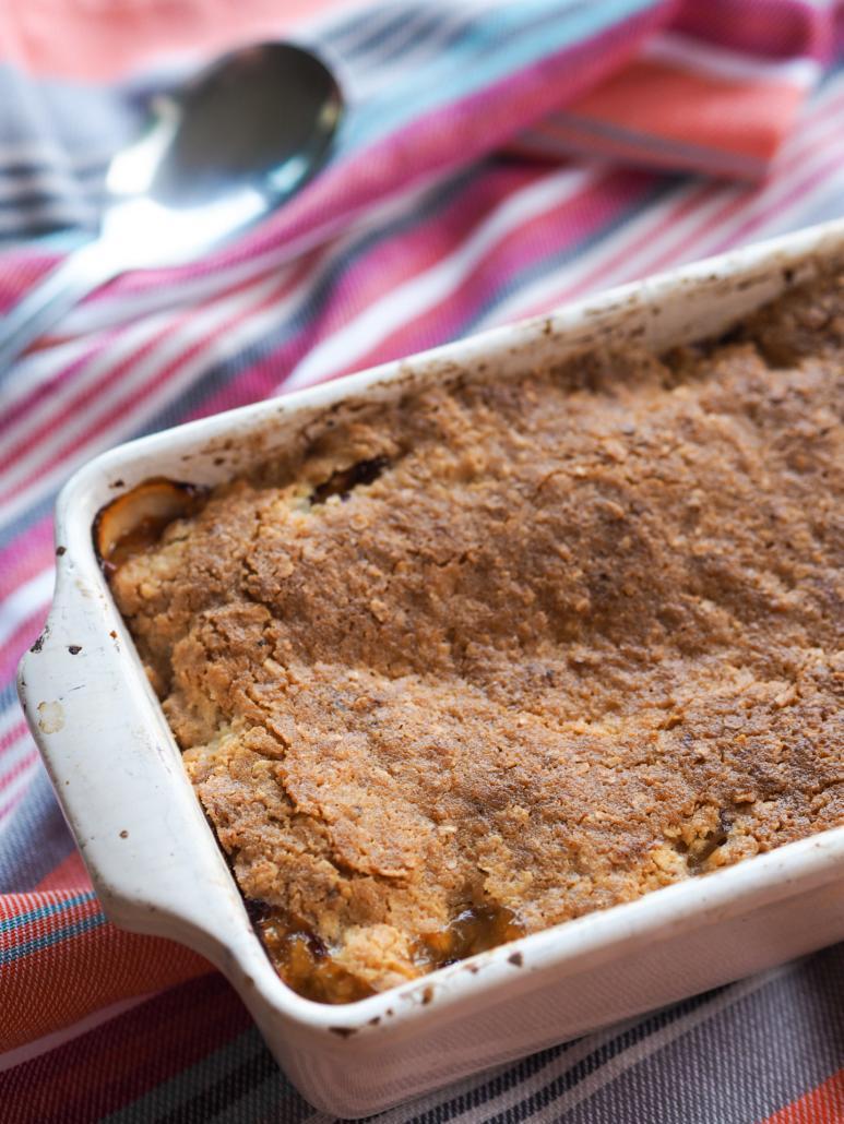 pâte à crumble très croustillante avec des flocons d'avoine