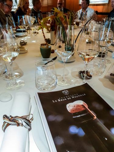 Dégustation es champagnes grand cru Le Brun de Neuville chez Pierre Gagnaire