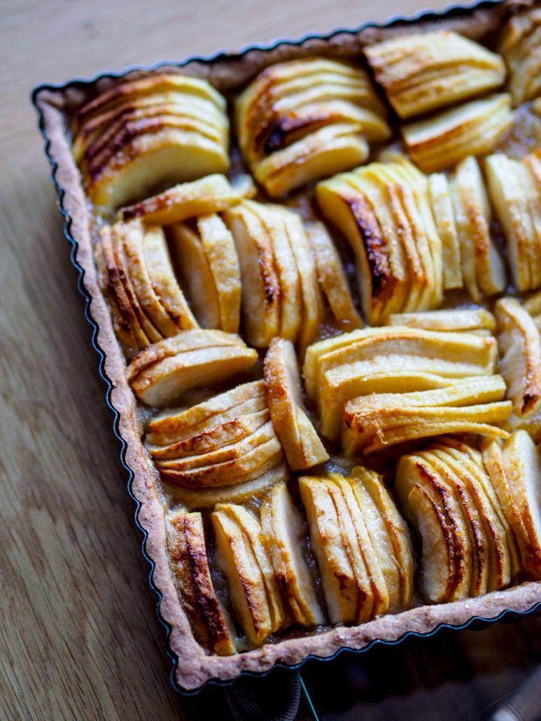 pâte sablée à la cannelle pour une tarte aux pommes