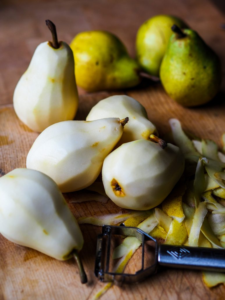 Peler les poires