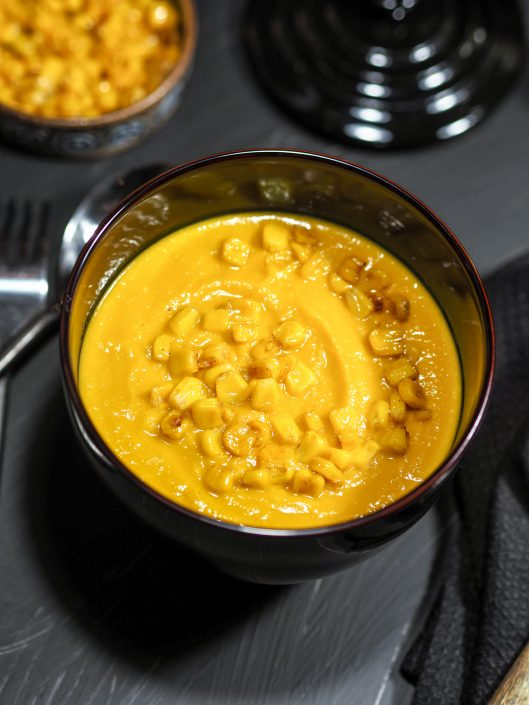 Soupe de maïs à la carotte