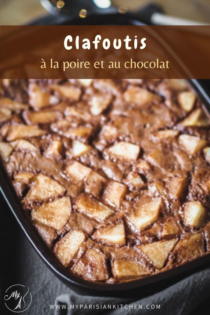 chafoutis ultra gourmand à la poire et au chocolat