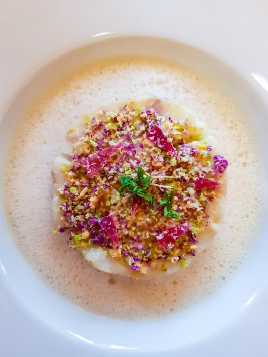 Restaurant Taillevent cabillaud risotto de chou-fleur