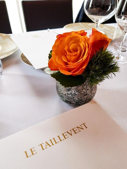 Restaurant étoilé Taillevent Paris Roses
