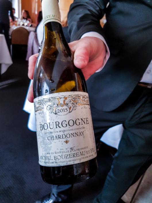 Dégustation de vin Bourgogne à l'Arpège