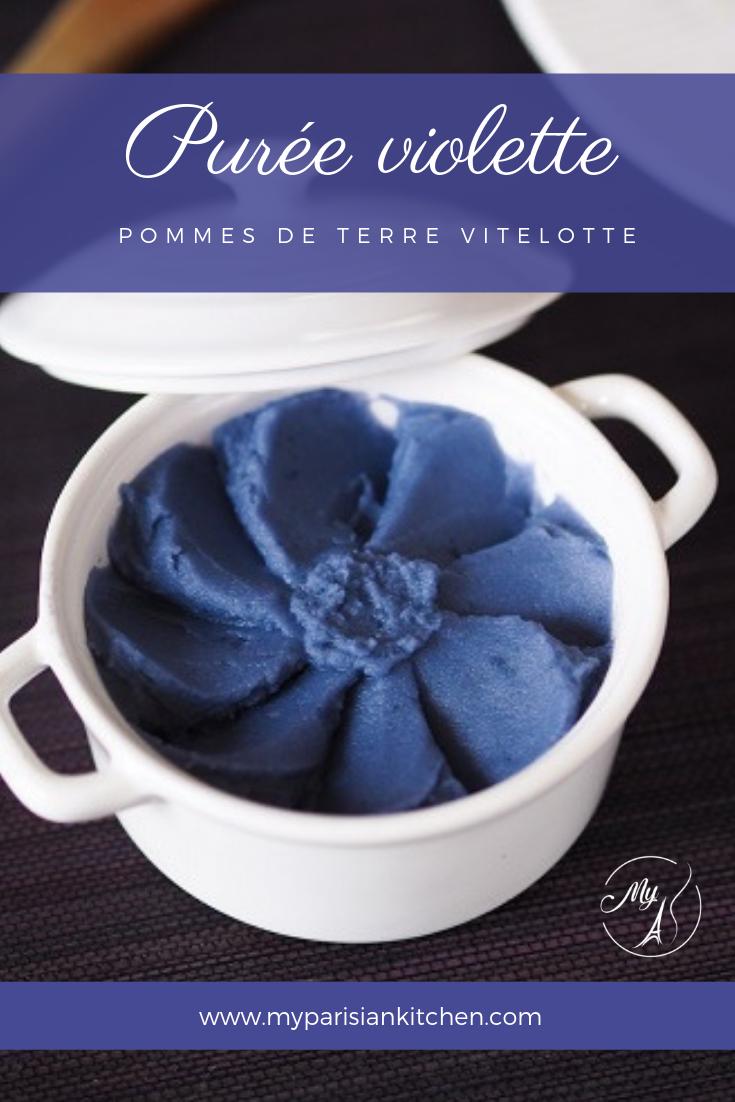 Purée de pomme de terre vitelotte violette