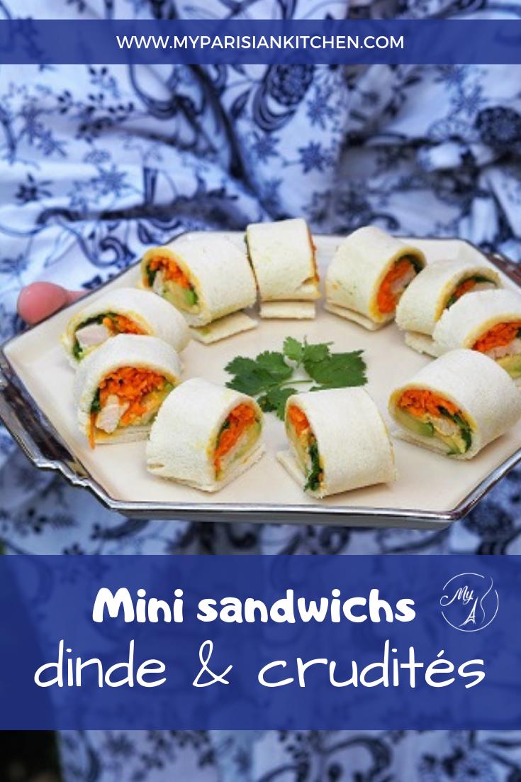 mini sandwichs dinde et crudités