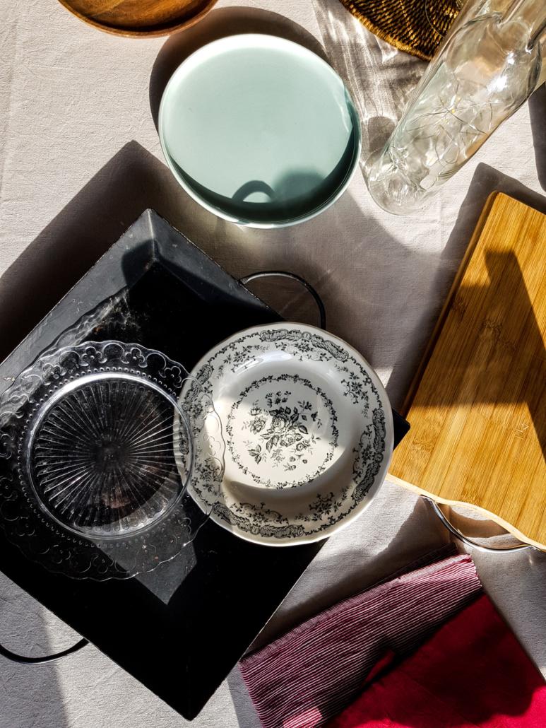 props vaisselle pour le stylisme culinaire