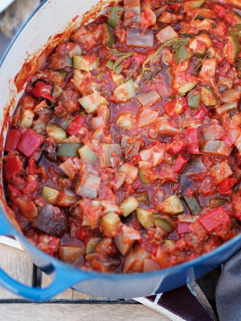 Ratatouille traditionnelle, légumes provençaux