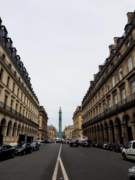 Rue de Castiglione vers place Vendôme Paris