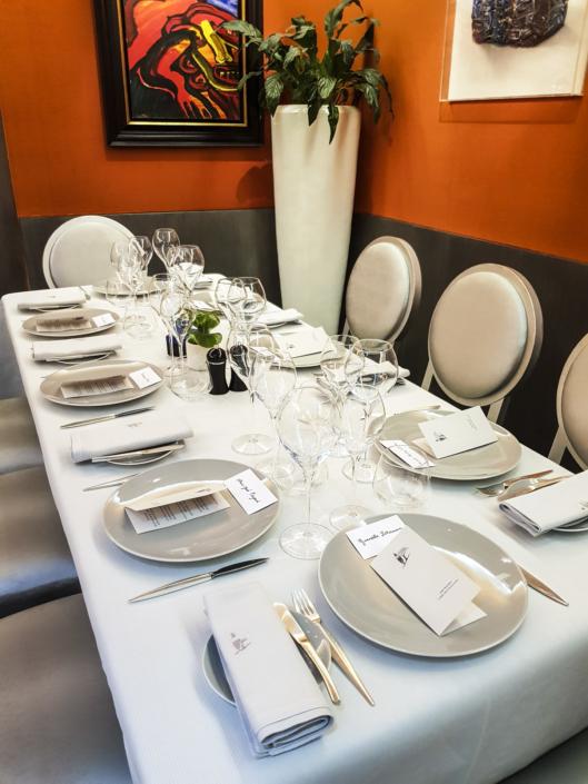 table du restaurant étoilé le Carré des Feuillants