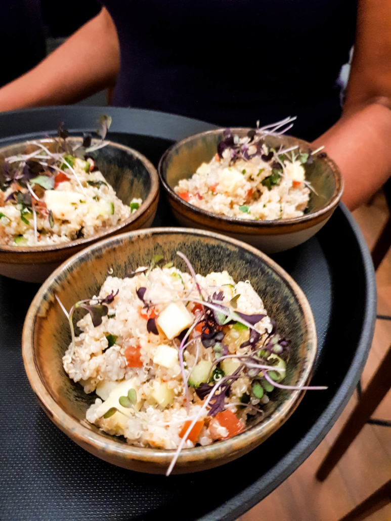 taboulé de quinoa au Vacherin fribourgeois AOP