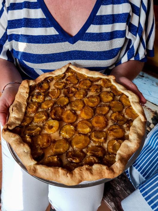 une tarte rustique pour le dessert