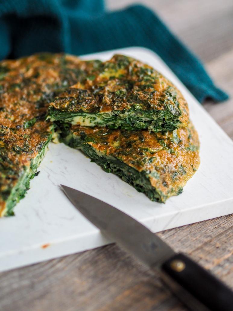 trouchia niçoise, omelette traditionnelle aux feuilles de blette