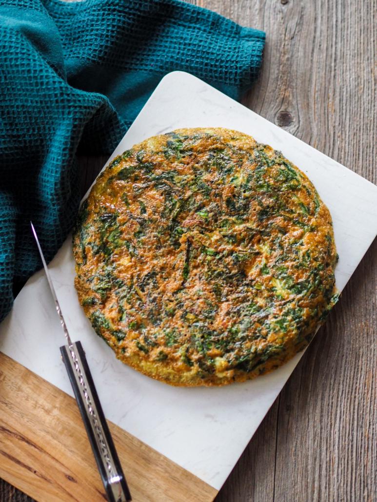 Omelette aux feuilles de blette et herbes fraîches de Nice, la Trouchia