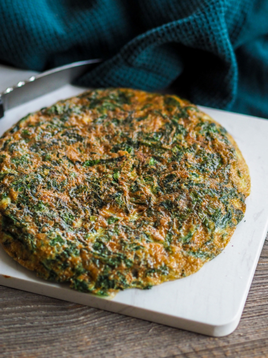 trouchia omelette niçoise aux feuilles de blette