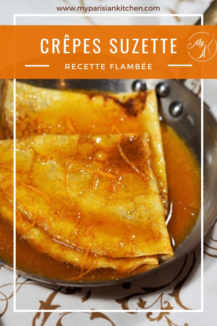 Crêpes Suzette, recette flambée