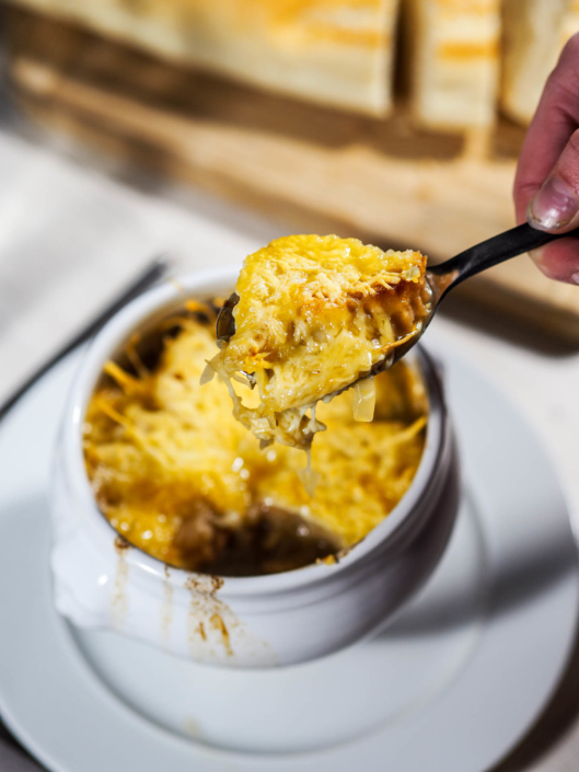 taste the best French onion soup ever
