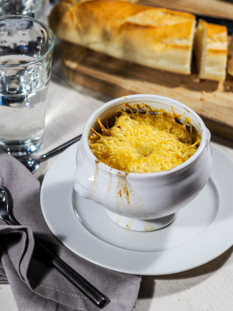 broiled cheese for decadent French onion soup