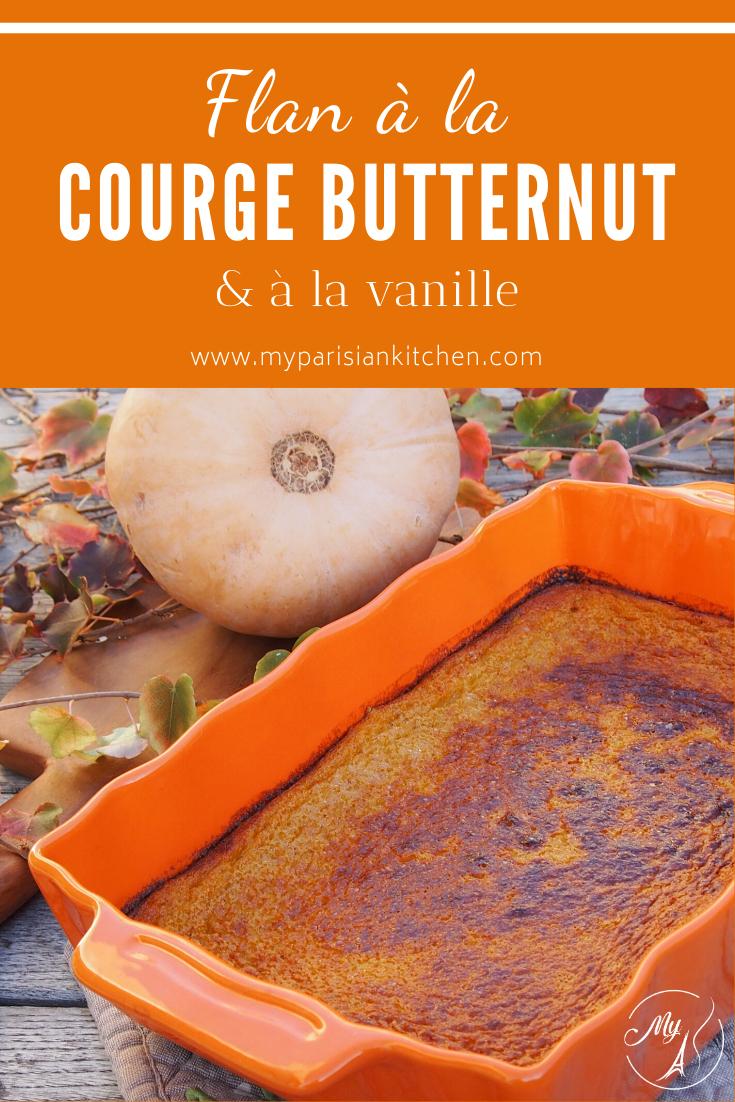 Flan à la courge butternut et à la vanille