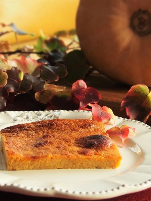 Flan à la courge butternut et à la vanille en dessert