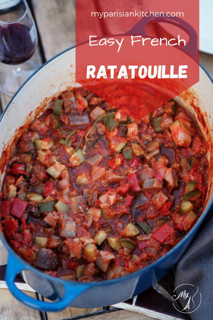Easy South France Provence summer vegetable stew Ratatouille