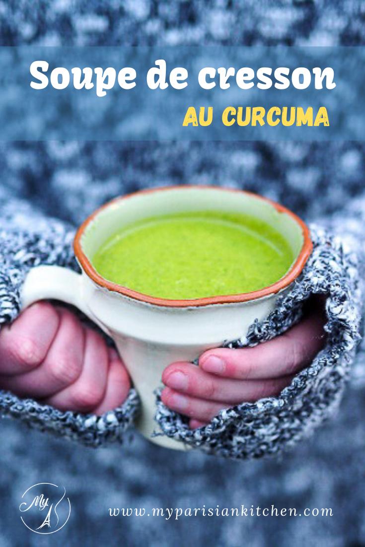 Soupe de cresson au curcuma