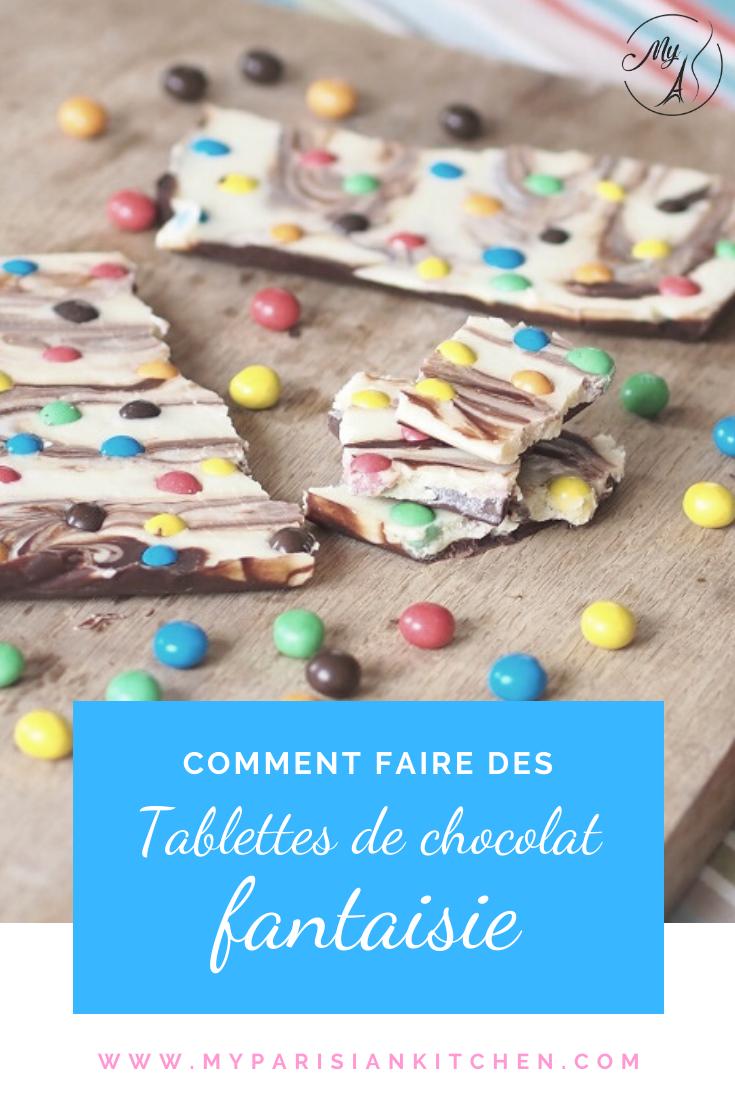 Tablettes de chocolat fantaisie